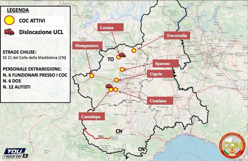 Piemonte E Lombardia Cartina.Cartina Incendi Situazione Incendi In Piemonte E Lombardia Youreporter