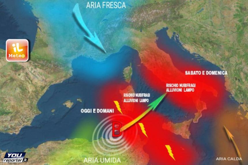 Allerta Meteo Elevata Uragano Forza 2 In Arrivo In Italia Youreporter
