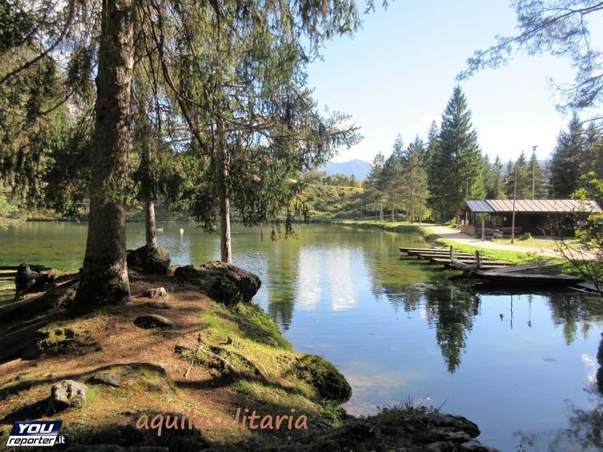 Lago di San Vito di Cadore (lago Mosigo) in val del Boite ...